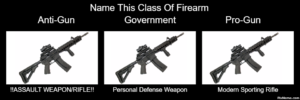Perspective vs Classification of the same firearms. Source: pixmeme.com