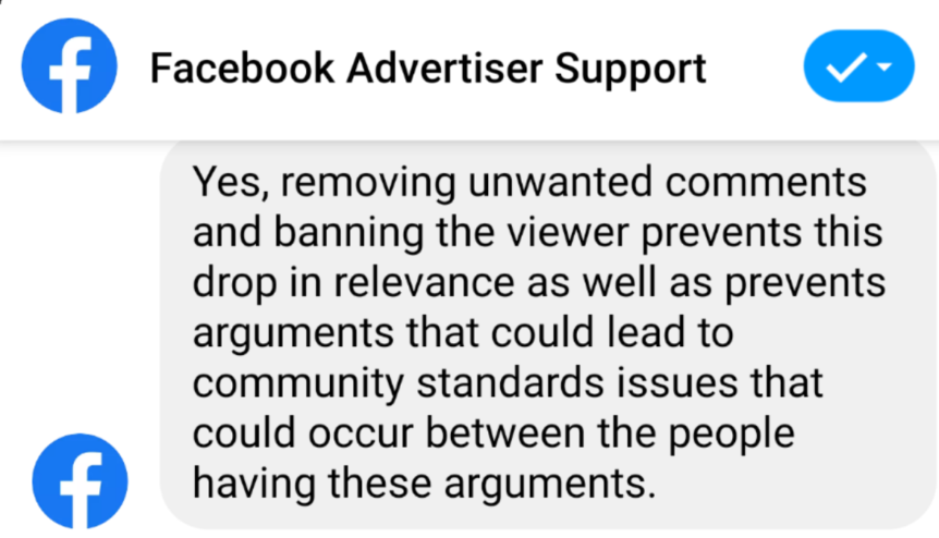 Facebook Relevance - Delete dissent, preach to the choir and become more relevant.